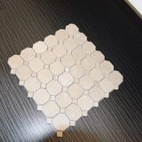 Bester verkaufenCreama Marfil Hexagon-Mischungs-Quadrat-Marmor