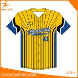 Healongの上の販売のスポーツ・ウェアによってカスタマイズされる昇華印刷の野球ジャージー