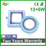 중단되는 둥글거나 정연한 두 배 색깔 (12+6) W LED 가벼운 위원회