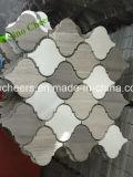 Mosaico di marmo di legno grigio delle mattonelle della striscia