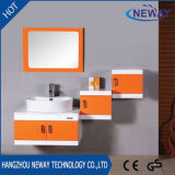 Module de salle de bains fixé au mur en bois solide de qualité