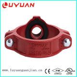 Té mécanique Grooved de fer malléable de qualité (FM/UL)