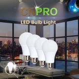 Bulbo 9W del plástico + del aluminio A19 LED de la alta calidad