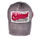 Горячим бейсбольная кепка помытая сбыванием с заплатой Gjwd1740