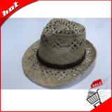 Chapéu de palha natural Fedora Panamá Fashion Hat