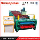 China-Fabrik-doppelte Schicht-Farben-Stahlbleche, welche die Maschinen-, gewölbte und trapezoidedach-Fliese-Rolle bildet Maschine Roofing sind