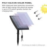 Proyector al aire libre gemelo accionado solar para el jardín