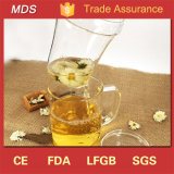 Borosilicate tres pedazos del espesamiento de la taza de té de cristal con la maneta