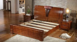Cama de madera maciza modernas camas dobles (M-X2265)