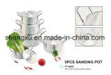 Il Cookware economizzatore d'energia del POT del POT di alluminio rivestito di ceramica antiaderante della salsa imposta Sx-A003