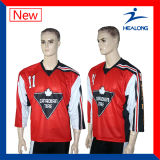 Healong modificó el hockey reversible Jersey de la impresión para requisitos particulares de Digitaces