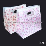 Zoll druckte Plastikeinkaufen-Träger-Beutel, Geschenk-Griff-Beutel, Kosmetik/bildet Drawstring-Beutel