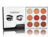 Gama de colores impermeable mate de la sombra de ojo de los colores del cosmético 9 de la buena calidad