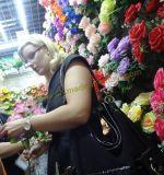훈장을%s 아름다운 중국 인공 꽃 플라스틱 실크 직물 Handmade 꽃