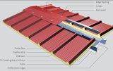 Folha ondulada galvanizada vermelha da telhadura para a casa
