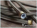 Boyau rayé par PTFE/Teflon en métal de Flangle d'acier inoxydable