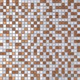 ブラウンの白い混合された小型切口ミラーガラスのモザイク