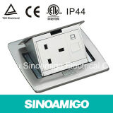 Sinoamigo Black Resin Plate Floor Sockets with Multi-Switch