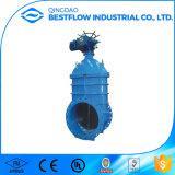 Non-Поднимая запорная заслонка DIN3352 F4 F5 дуктильного утюга стержня жизнерадостная усаженная
