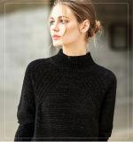 女性の円形の首のカシミヤ織のセーター(13brdw034)