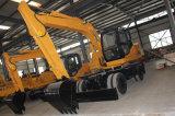 Excavador hidráulico de la rueda profesional del fabricante con capacidad media del compartimiento