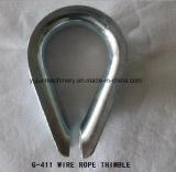 ケーブルのための電気電流を通されたDIN6899Aワイヤーロープの指ぬき