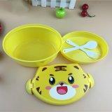 O animal dos desenhos animados do abanador caçoa o Oval pequeno do recipiente de alimento de Bento da preservação do calor das caixas de almoço