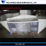 Bureau de réception extérieur solide acrylique de modèle de côté de meubles de compteur de fantaisie de réception