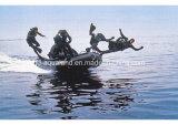 Barco 8persons inflável Semi-Rigid/salvamento/forças armadas/pesca de Aqualand 12FT (385)