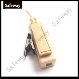 Cuffia avricolare acustica del tubo del walkie-talkie beige per Motorola P8268