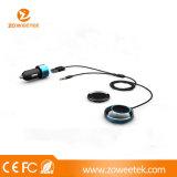 Aux Mini USB manos libres Bluetooth para coche con el cargador de coche (ZW-HB01)