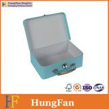 Коробка роскошного хранения упаковывая бумажная с ручкой металла