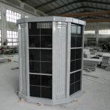 72 Niches Gray Granite Columbarium com Colunas