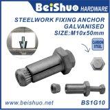 Bullone d'ancoraggio adatto dell'acciaieria cieca M10 Boxbolts per le sezioni vuote dell'acciaio per costruzioni edili