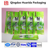 多彩な印刷を用いるカスタマイズされた側面のガセットのアルミホイルのプラスチック茶包装袋