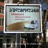 Rectángulo ligero impreso bandera al aire libre mega de la bandera de la cartelera de los media de publicidad del camino de poste LED