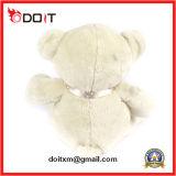 Urso de seda branco da peluche do fornecedor do urso da peluche de China