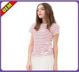 Мода Sexy хлопка печати футболки для женщин (W263)