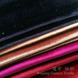 Tissu mou superbe de velours décoratif de Bringht pour le sofa