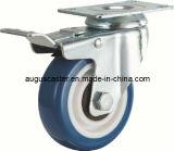 Brake Round Blue PU Casterとの中型のDutyかSwivel