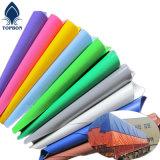 Colorido PVC Lona Impermeable para la Tienda O Cubierta de Techo Tb021