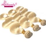 Os Peruvian rápidos do Virgin da onda do corpo do transporte tecem o cabelo louro