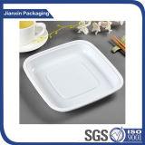 El plástico biodegradable disponible platea la bandeja