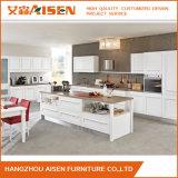 Design simples e moderno mobiliário em madeira maciça armário de cozinha