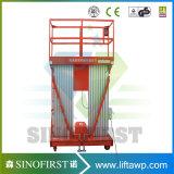 Doppelt-Mast Aluminiumluftaufzug-Plattform-Arbeits-Aufzüge mit Cer