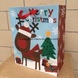 Tres Tamaño Conjunto de papel de la Navidad diseño de impresión bolsa de regalo