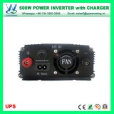Inverseur d'UPS avec le chargeur 500W DC12V à AC220V outre de l'inverseur de pouvoir de réseau (QW-M500UPS)