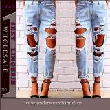 Venda a quente de 2016 Mulheres moda jeans Skinny licra de algodão (TXXL232)