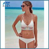 숙녀를 위한 백색 형식 비키니 Beachwear 수영복 수영복