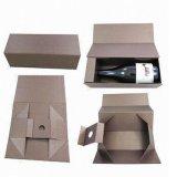 Caixa de transporte de embalagens de vinho de papel rígido com fechamento de ímã